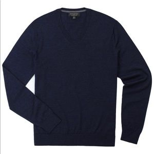 Banana Republic Men's Merino Wool V Neck Sweater